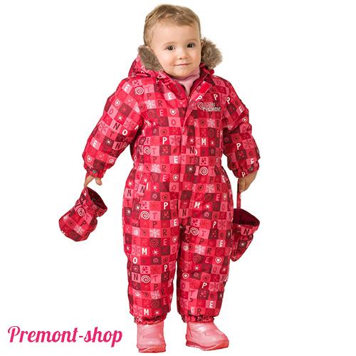Комбинезон Premont для девочек Красные льдинки