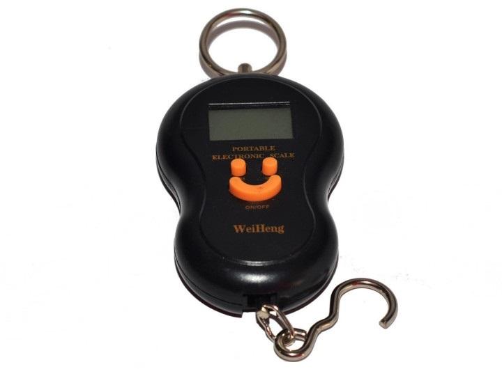 Портативные кантерные весы с крюком и электронным индикатором массы