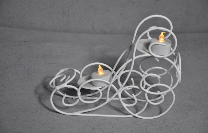 LED подсвечник сани
