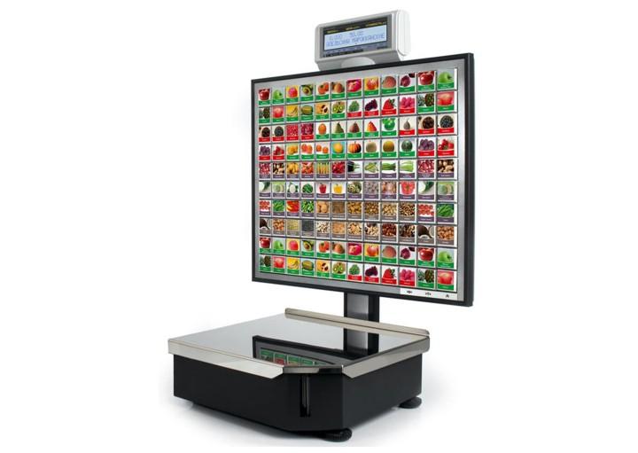 Торговые весы с сенсорным дисплеем и возможностью печати этикеток