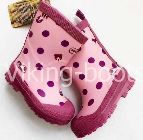 Детские сапоги Viking Hidden animals Pink купить в интернет-магазине Viking-boots
