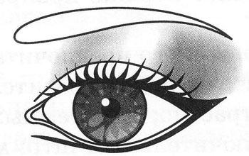 Макияж падающих (европейских) глаз