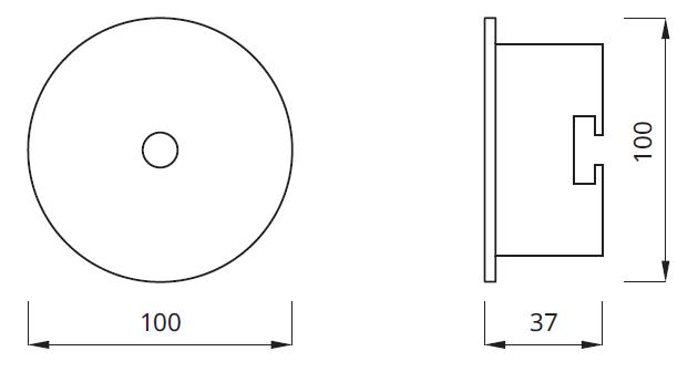 Размер встраиваемого аварийного светодиодного светильника AXP
