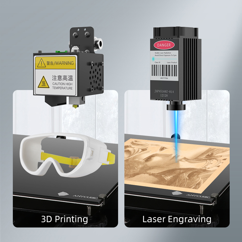 Mega Pro это устройство 2 в 1 для 3D-печати и лазерной гравировки.