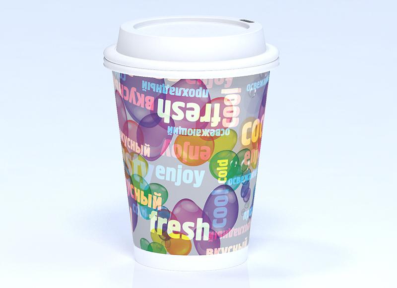 Бумажный стаканчик для холодных напитков