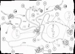Тормозная система Стелс Леопард с двумя рычагами тормоза на руле