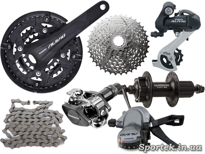 Обладнання Shimano Alvio для MTB велосипедів