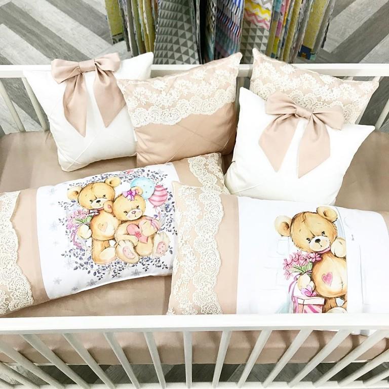 панели для бортиков в кроватку ткань
