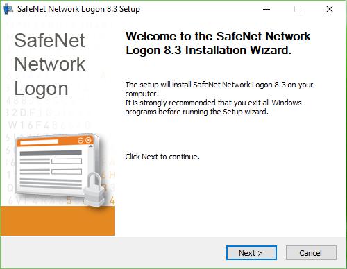 Установка SafeNet Network Logon.Шаг.1