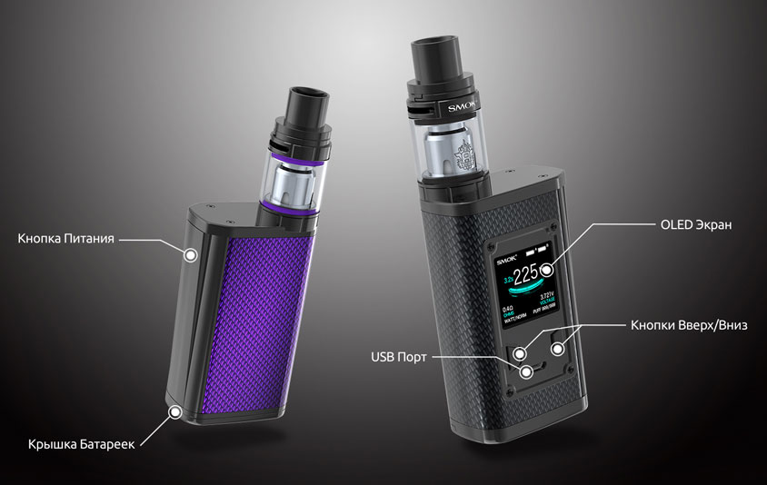 Компоненты SMOK Majesty Carbon Fiber + TFV8 X-Baby Kit
