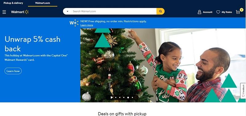 Главная страница Walmart