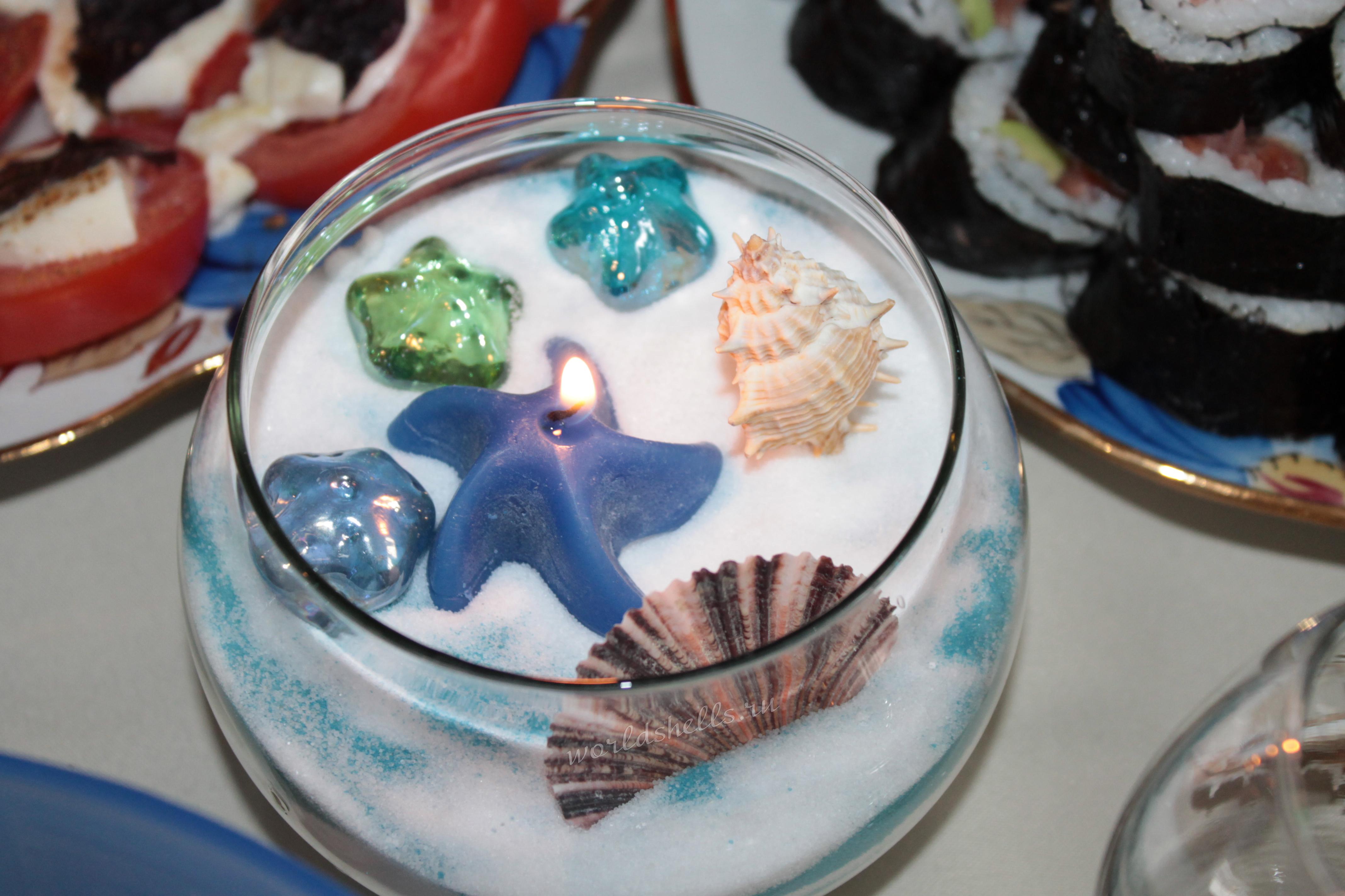 Подсвечник морской декоративный