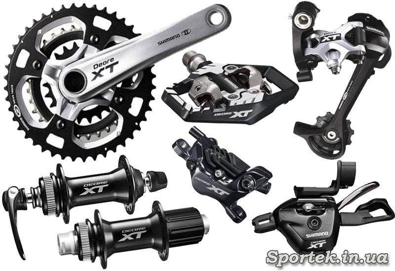 Обладнання Shimano Deore XT для MTB велосипедів