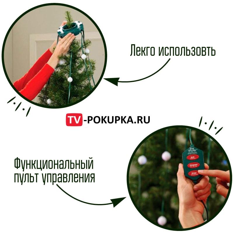 Гирлянда Tree Dazzler -  на новогоднюю елку (конусная)