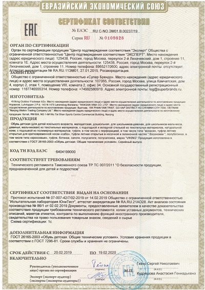 Сертификат Viking 2