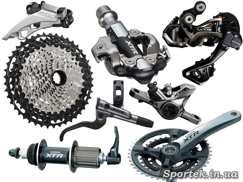 Обладнання Shimano XTR для MTB велосипедів