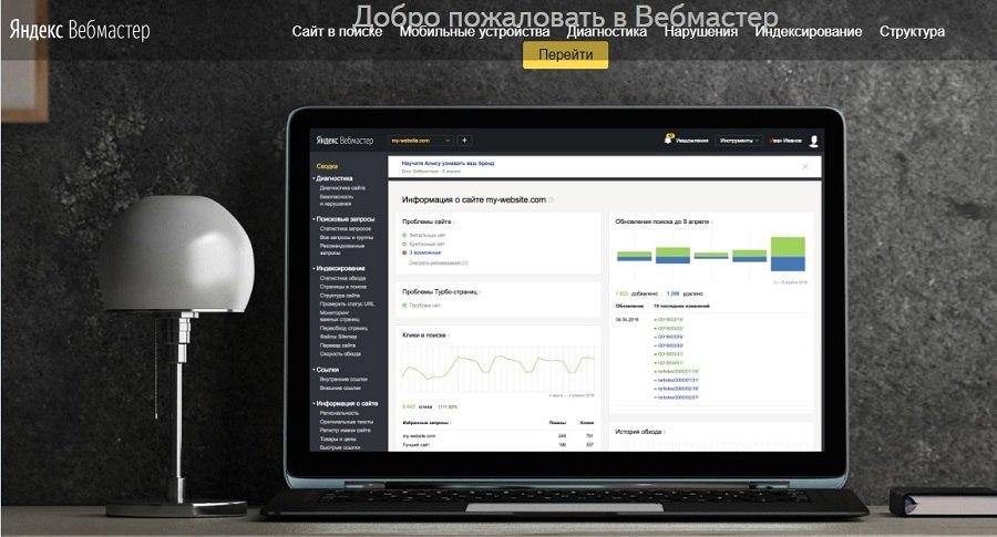 Сервис «Яндекс.Вебмастер