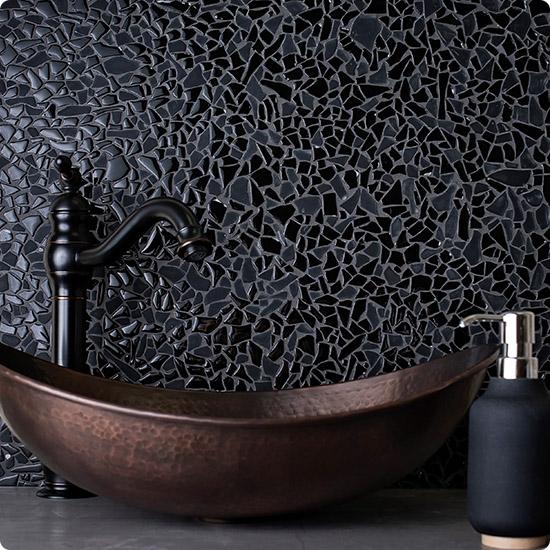 Черная мозаика + черная затирка