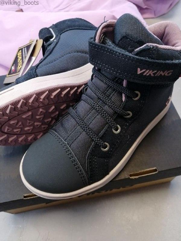 Полуботинки Viking Leah Mid GTX Sneaker Dark Grey/Dusty Pink демисезонные