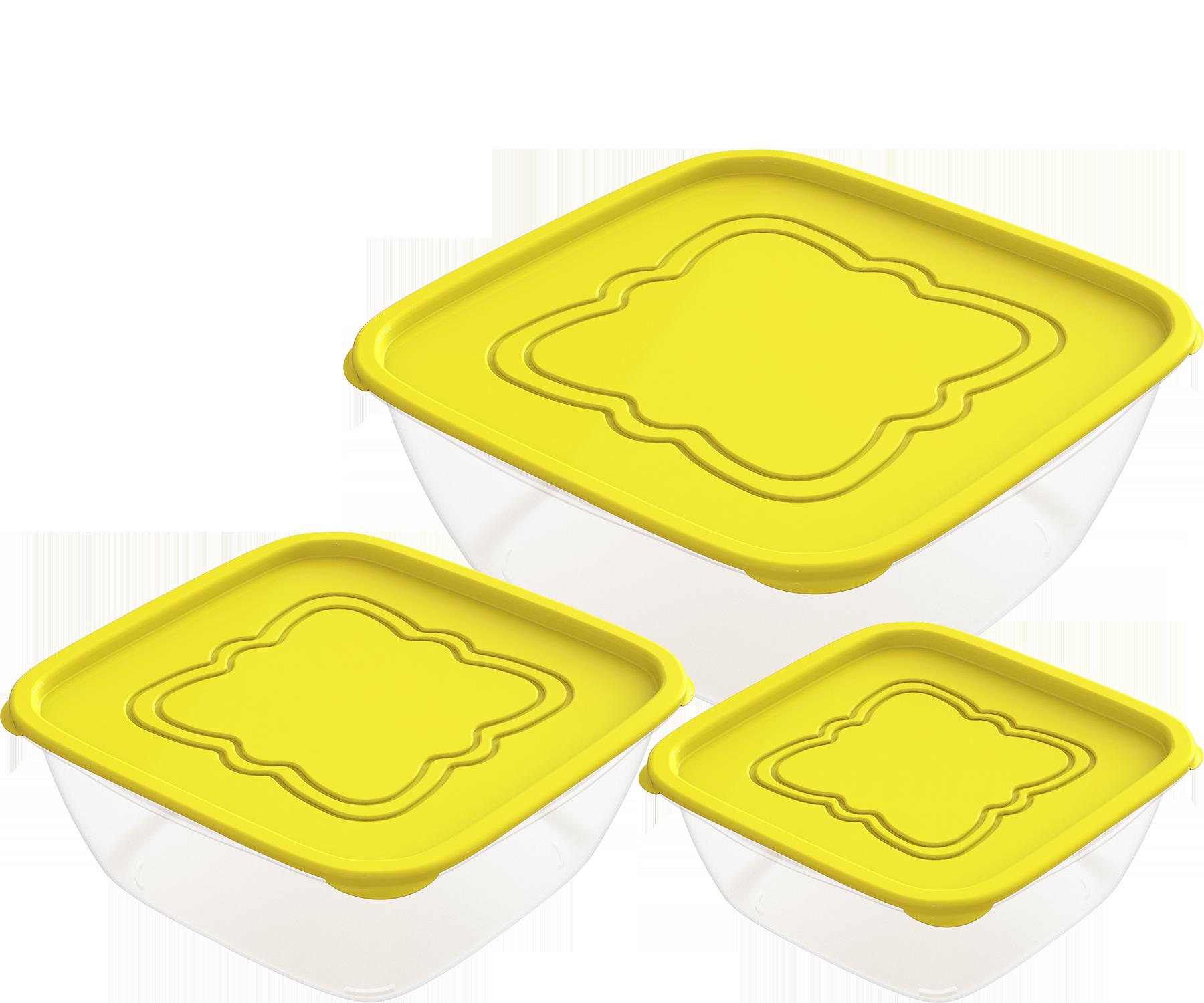 АП 159 Набор контейнеров для продуктов «Пикник» №1 (СВЧ) 0,5л; 1,0л; 2,0л (3шт)