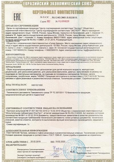 Сертификат Viking 3