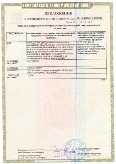 Сертификат Viking 4.1