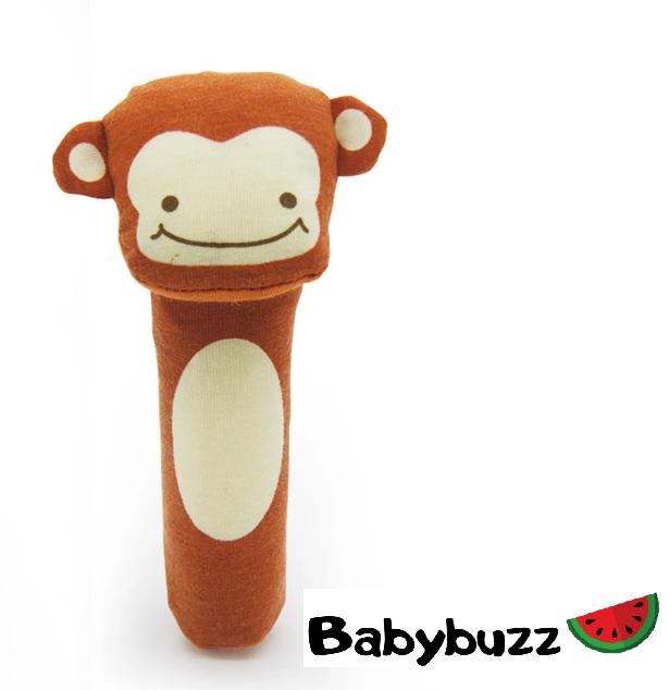 """Мягкая игрушка-пищалка """"Весёлые зверята"""" Обезьянка Babybuzz"""