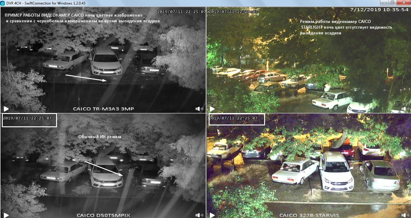 CAICO TECCH изображение с камер ночь цветное изображение
