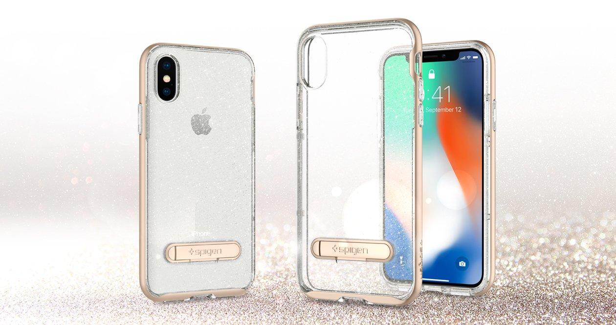 Противоударнаянакладка Case Crystal Hybrid Glitter Sgp Spigen для iPhone X.