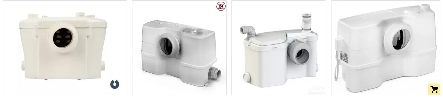 Модели канализационных насосов