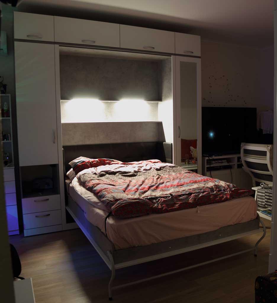 Шкаф-кровать Виктория с пеналами по бокам