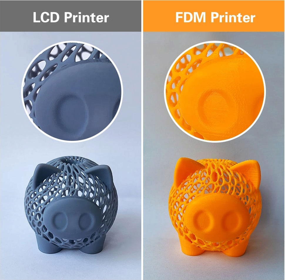 Сравните распечатки на Qidi Tech Shadow 5.5 S и простом FDM-принтере
