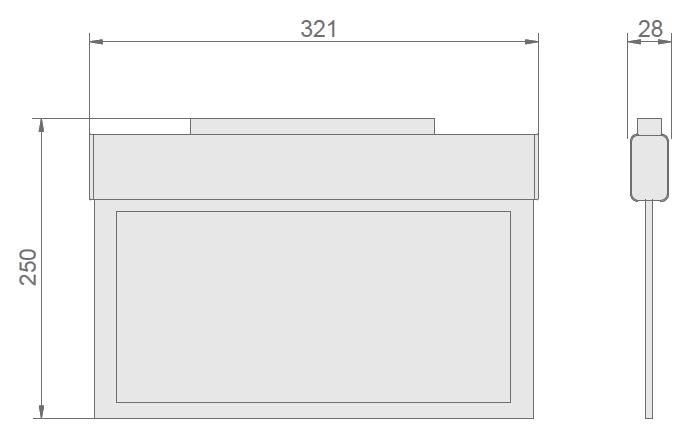 Размеры эвакуационного указателя KASJOPEJA