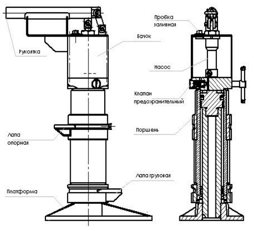 Домкрат гидравлический путевой ДПГ 10-200