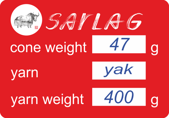 yak yarn cone label