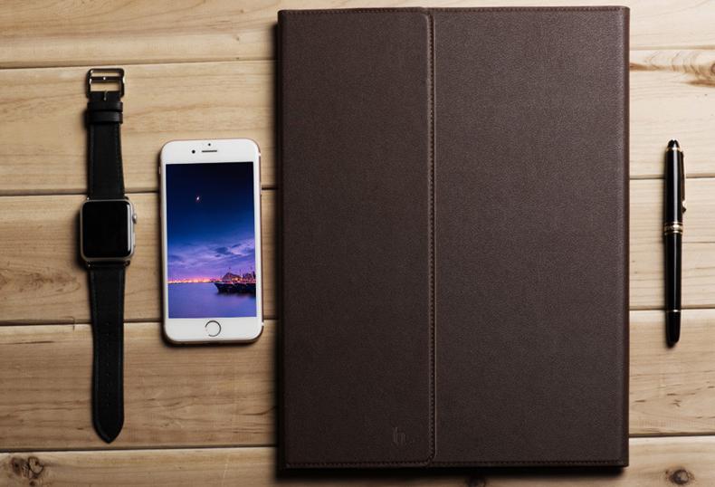 Кожаный чехол книжка-подставка премиум класса HOCO Portfolio Sugar Leather case для iPad Pro 12.9.