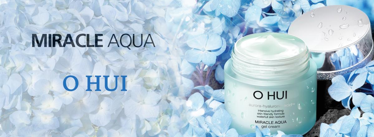 Раздел корейской косметики O Hui Miracle Aqua Gel cream