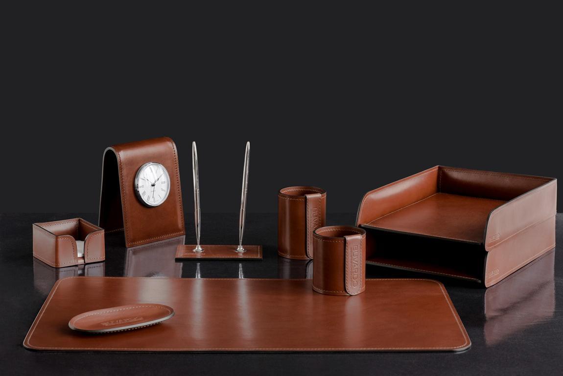 люкс набор для руководителя в офис с часами