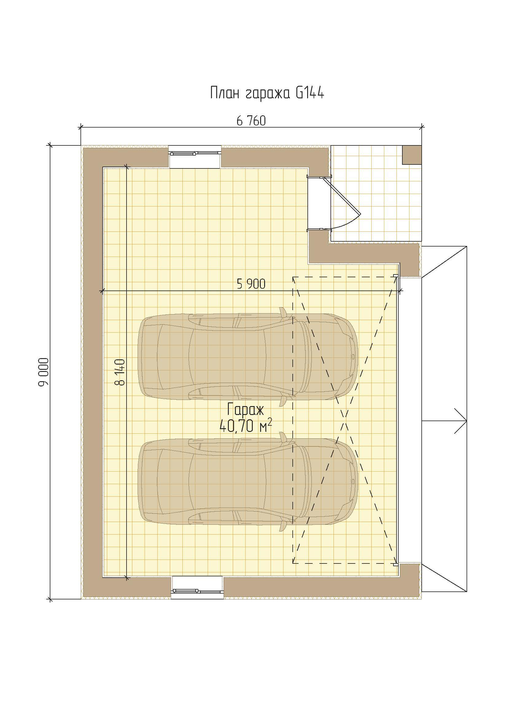 Проект гаража с плоской крышей