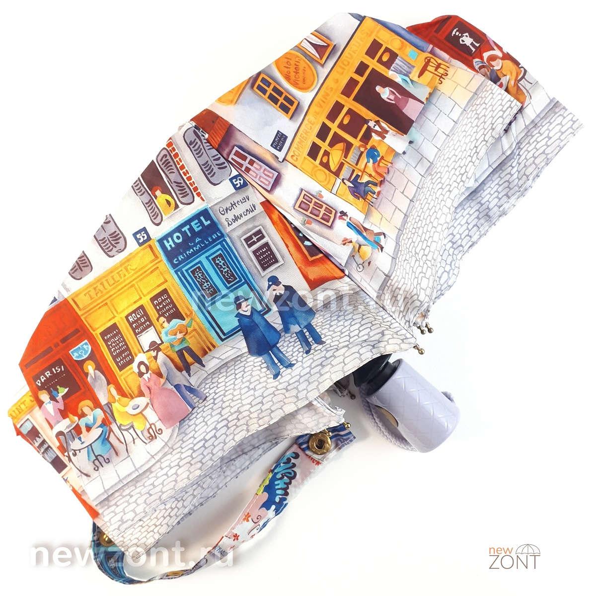Женский компактный зонт автомат 4 сложения