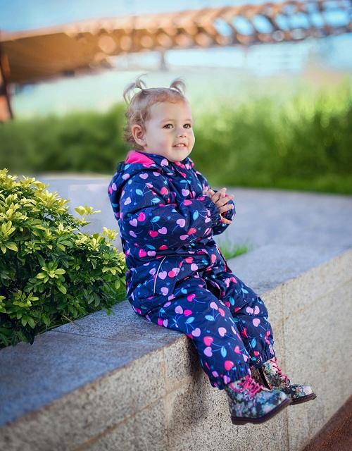 Детский комбинезон Premont для девочек Драгоценный Кармин SP1001 в магазине Premont-shop