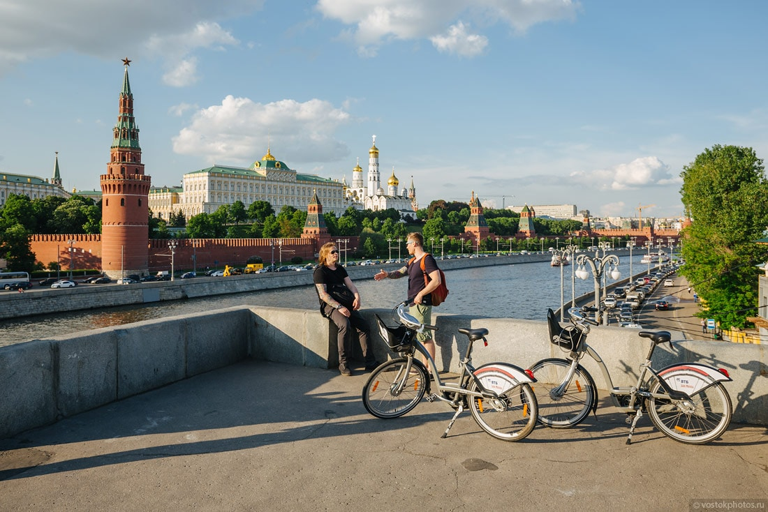 Кремль и велосипеды