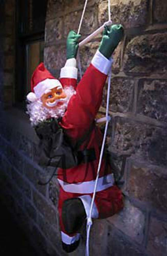 Санта Клаус декорация ползущий на лестнице в дом
