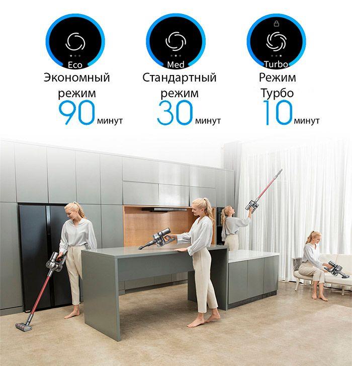 Беспроводной ручной пылесос Dreame V11 Vacuum Cleaner Global емкий аккумулатор