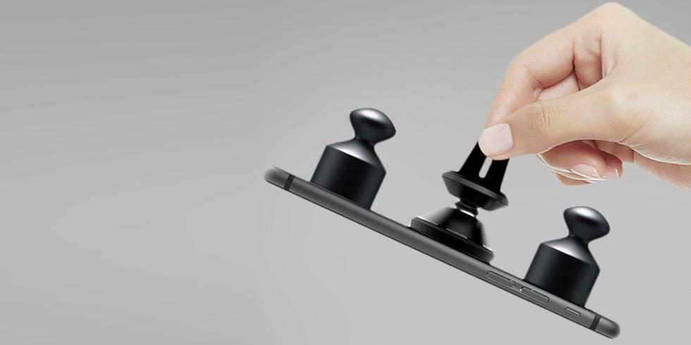 Автомобильный магнитный держатель в воздуховод XIAOMI GUILDFORD CAR HOLDER (Черный)