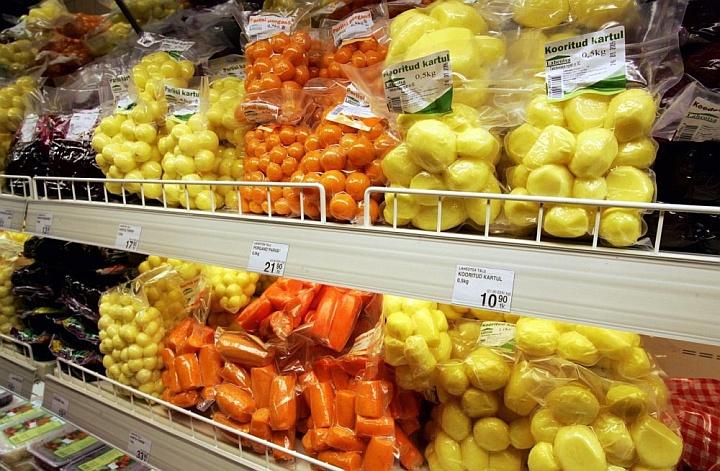 Традиционно ценники размещаются ниже соответствующих товаров