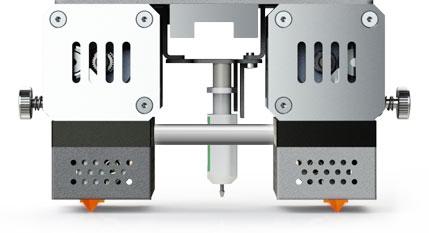 Двойной экструдер с температурой нагрева сопла до 500 °C