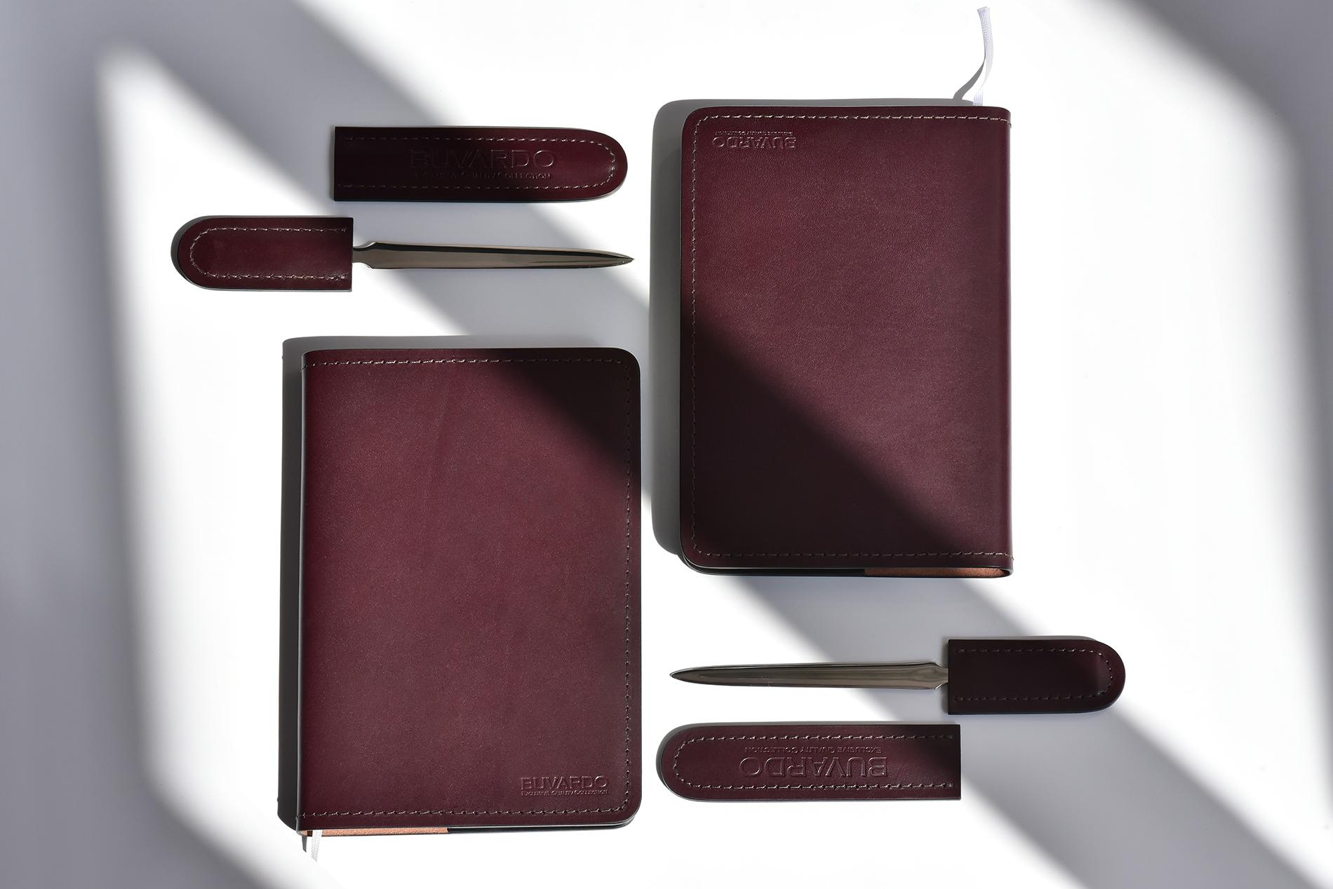 Ежедневник А5 недатированный buvardo комбинированный из кожиFull Grain Brown и Cuoietto цвет черный или шоколад