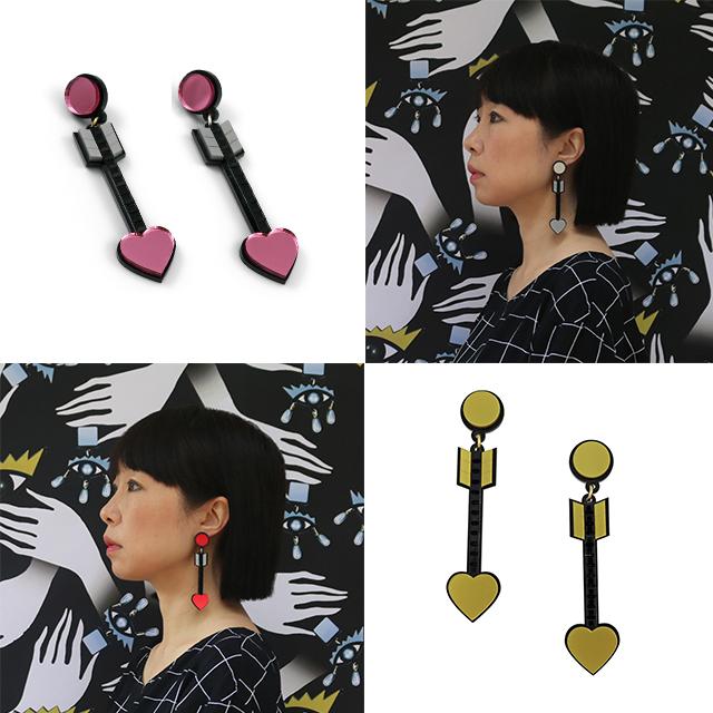 серьги From the Heart Arrow Earrings от Jennifer Loiselle