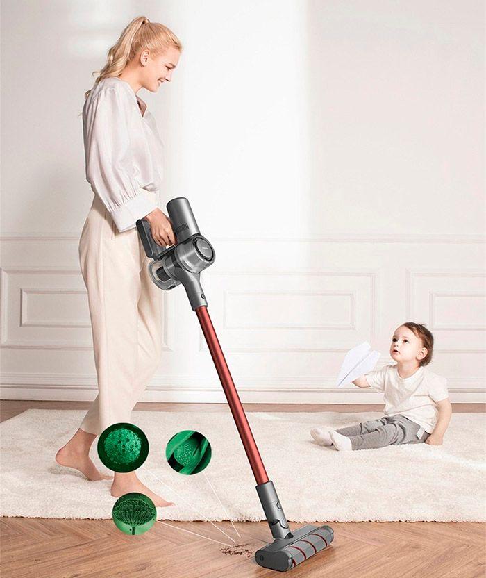 Беспроводной ручной пылесос Dreame V11 Vacuum Cleaner Global фильтрация до  0.3 микрон
